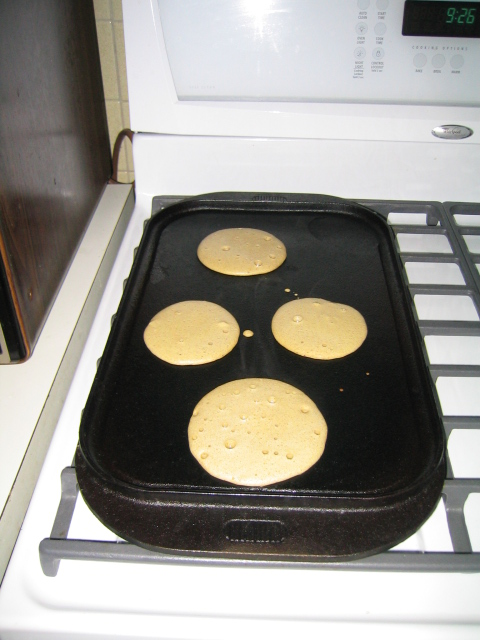 biscuits on the griddle
